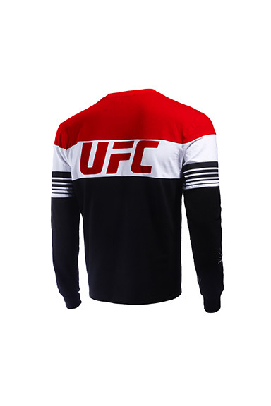 new concept 5c71d 91e63 UFC ROUND NECK T SHIRT LONG SLEEVE WITH CONTRAST DIFFERENT COLOR