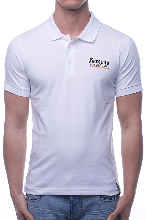 POLO T-SHIRT WITH LOGO PRINT