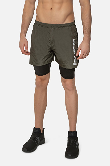 7c46adc92 DOUBLE SHORTS IN ARMY GREEN