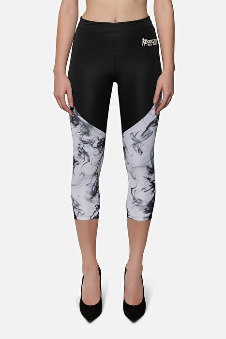 huge selection of e99f8 6b958 LEGGINGS ADERENTI A VITA ALTA NERO