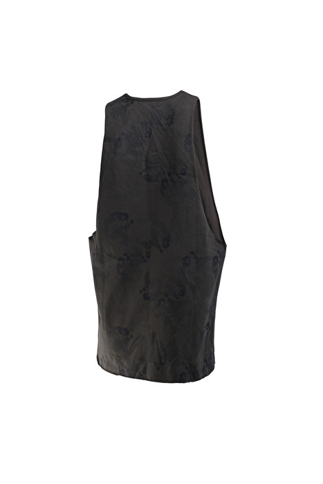 Man BOXEUR DES RUES Wide Jersey Raw Cut Tank with Camou Print